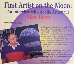 The May 1994 issue of Odyssey Magazine included my interview and photo of Alan Bean. Photo © Marianne Dyson.