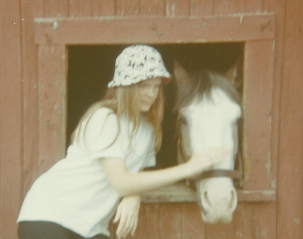 "Marianne and ""Red"" in 1969 at Rambling Acres. Photo courtesy Marianne Dyson"