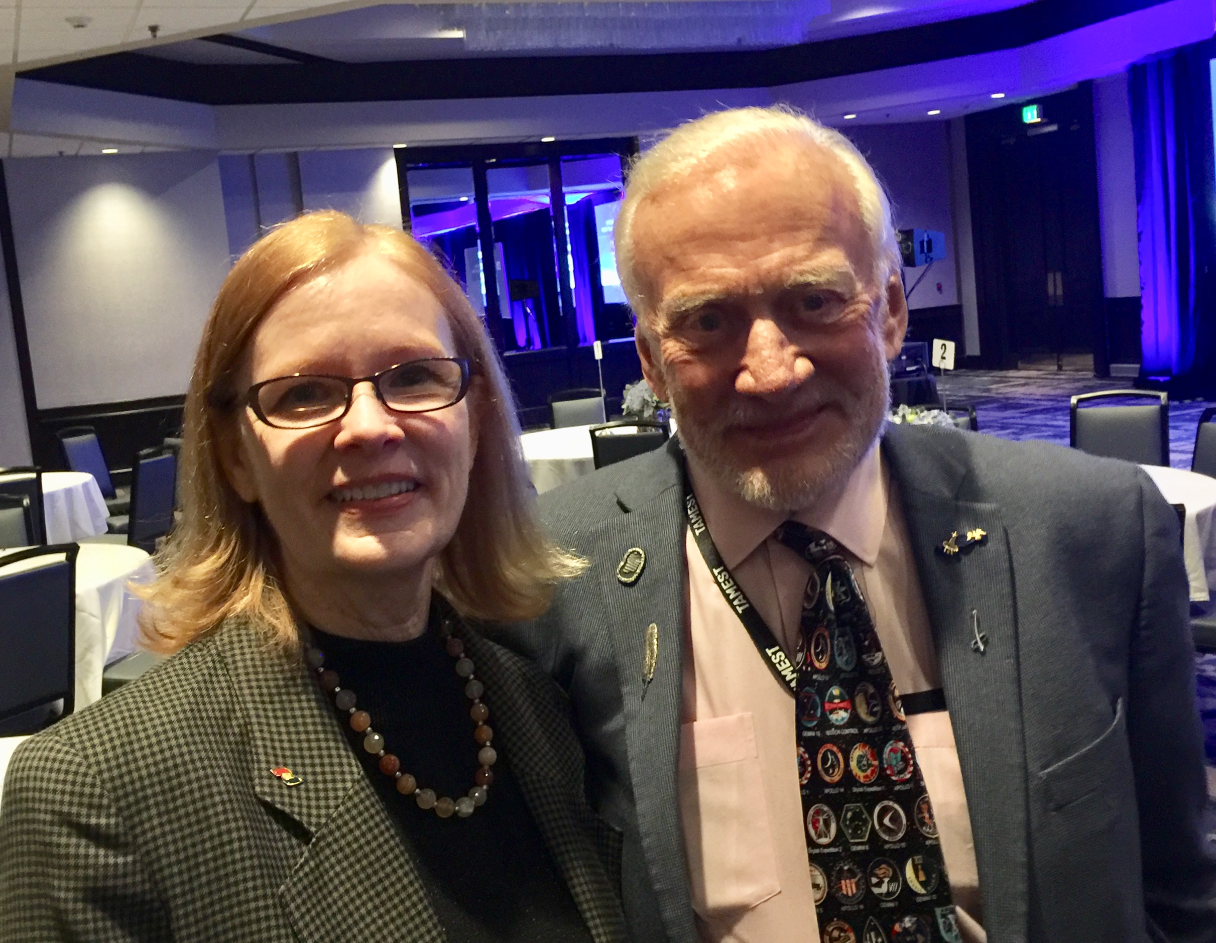 Hanging out with my famous coauthor, Buzz Aldrin in 2018