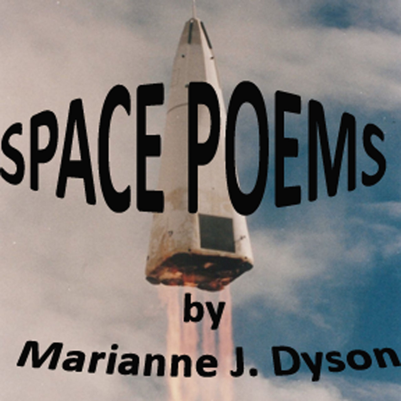 Space Poems Cover showing launch of Delta Clipper rocket.