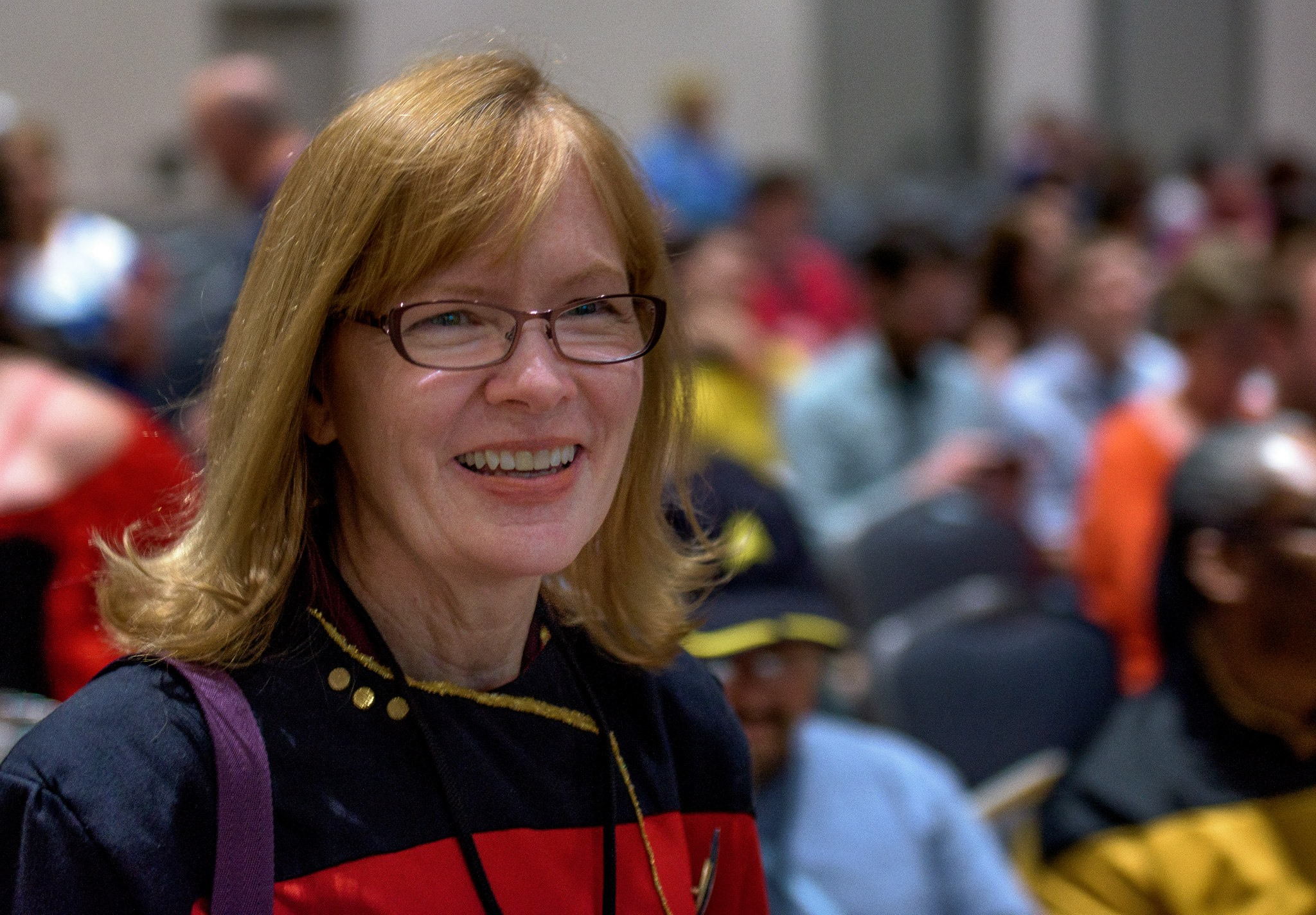 Photo of Marianne Dyson at Space City Comic Con by Carl Shier.
